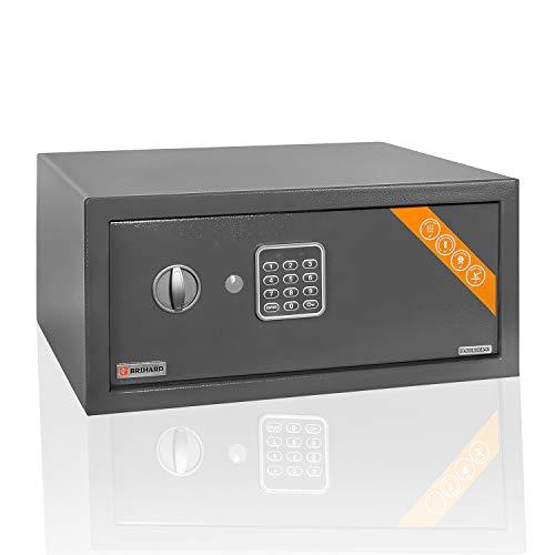 Brihard Laptop-Safe Elektronischer - 20x43x35cm Computer-Safe-Box mit LED-Bildschirm mit Digitalem Zahlenschloss - Code-Safe für Laptop-Größe 15 Zoll