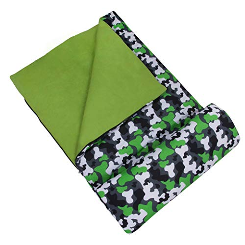 Wildkin Kids Sleeping Bags for Boys and Girls, Measures 66 x 30 x 1.5 Inches, Cotton Blend Materials...