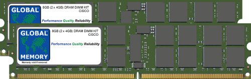 8GB (2 x 4GB) DRAM DIMM MEMORY RAM KIT FOR CISCO MEDIA CONVERGENCE SERVER MCS 7845-H2 (MEM-7845-H2-8GB)