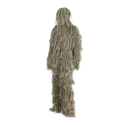 JFGX Outdoor Adults 3D Camouflage Poncho Camo Cape Cloak Stealth Ghillie Suit Military CS Woodland Hunting Clothing