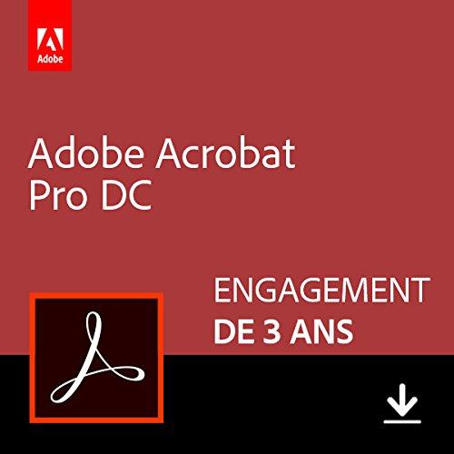 Adobe Acrobat Pro DC | Pro | 3 Années | PC/Mac | Téléchargement