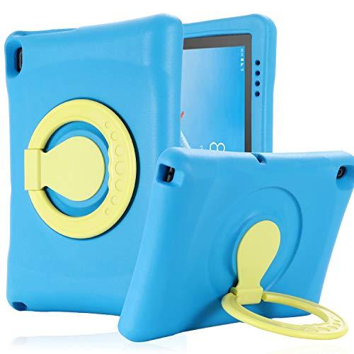 Kavon Funda Protectora para Lenovo Tab E10 TB-X104F 10.1 Pulgadas 2019,Mango Convertible Prueba de Golpes Protectora Funda de Tableta EVA Ligera para Niños 10.1 Pulgadas (Azul)