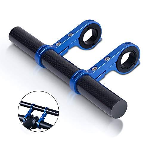 azamp 20mm Bici Manubrio Extender,Estensore per Manubrio Biciclette Supporto con Doppie Morsetti,Ultraleggero Carbonio Manubrio MTB,Bici Accessori per Telefono Supporto/GPS/Lampada