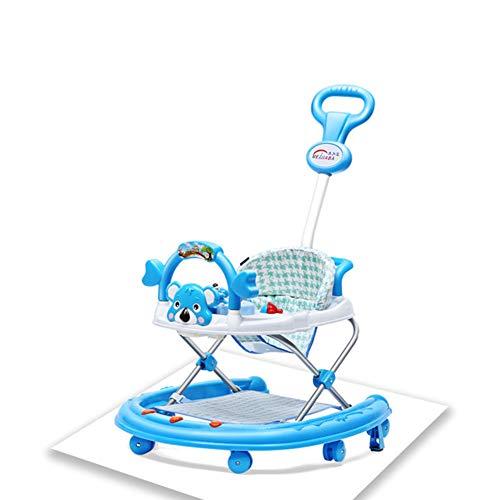 YUEBAOBEI Kinderwanderer Kind Anti-Rollover 6/7-12 Monate Multifunktionsmusik Faltbare Lernwagen Junge Und Mädchen Können Sitzen,A