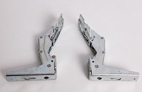 daniplus© Türscharnierset, Türscharnierkit geeignet für Whirlpool Bauknecht Philips 481231018626 für oben und unten für Kühlschrank, Gefrierschrank