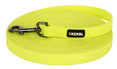 Kerbl 81101 Schleppleine Easy Care, Neongelb, 20 mm x 10 m
