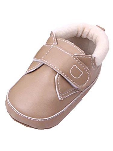 YICHUN Bébé Garçons Chaussures de Premier Pas Chaud Chaussures Souples Chaussures de Loisir (Longueur d'Intérieur:13CM, Kaki)