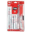 Milwaukee Sawzall Reciprocating Saw Blade Set (13-Piece)-49-22-1113 - The Home Depot