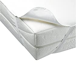 DARYmex Matratzenschoner Wasserdicht Frottee Betteinlage Bezug Matratzenauflage 7 Größen (60x120 cm)