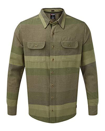 Sherpa Herren TAMANG Shirt Hemd, GOKARNA GRÜN, S