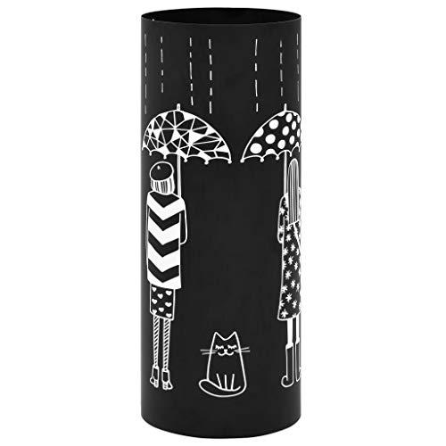 vidaXL Schirmständer Frauen-Design Stahl Regenschirmhalter Regenschirmständer