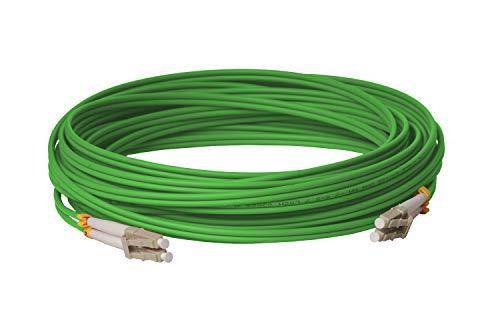 CONBIC® LWL Glasfaser-Kabel – 20m OM5 LC/UPC-LC/UPC, Duplex 50/125 Patchkabel – Lichtwellenleiter 20 Meter
