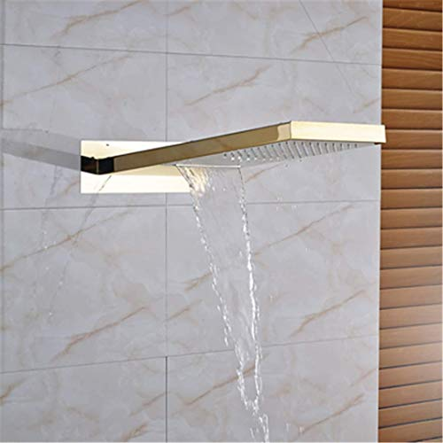 ZJN-JN Styojom Cabeza de Ducha del Cuarto de baño 55 * 22 de Montaje en Pared Grifo de la Ducha Nublado Nublado el Amarillo Duchas de Mano de Ducha
