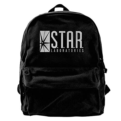 YQUESR Canvas-Rucksack mit großer Kapazität chertascheS.T.A.R. Labs Rucksack für Reisen, Wandern, Fitnessschularbeit