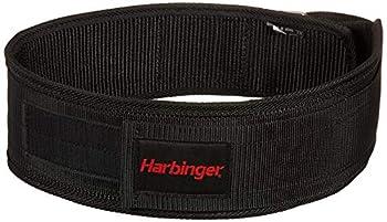 Harbinger 360890 4-Inch Nylon Weightlifting Belt Medium,Black