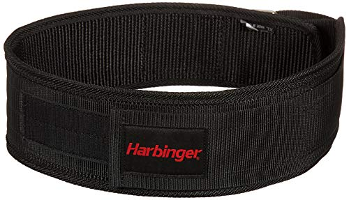 "Harbinger ハービンジャー ナイロン トレーニングベルト リフティングベルト 4"" NYLON BELT (Small:61cm〜73.7cm)"