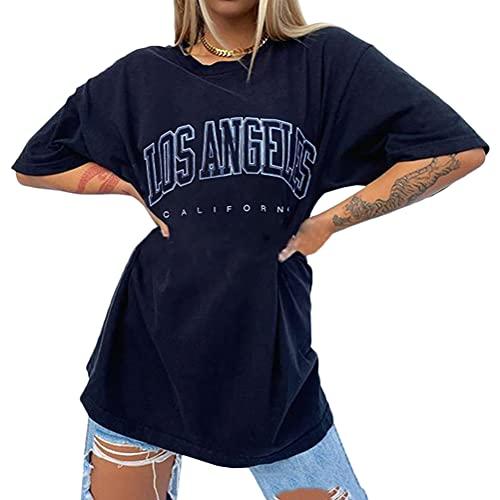 Tomwell T-Shirt Damen V Ausschnitt Kurzarm Langarm Sommer Casual Farbblock T Shirt Top Bluse Oberteil C Dunkelgrau J S
