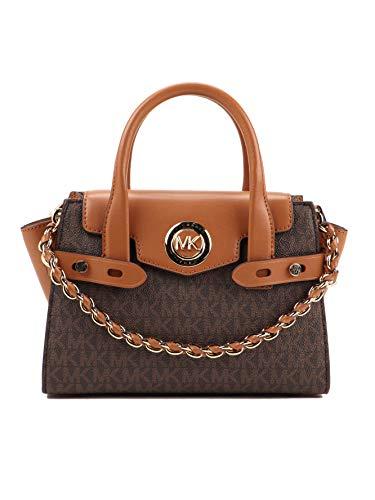MICHAEL KORS Womens Carmen handväska, BRN/Ekollon, extra liten