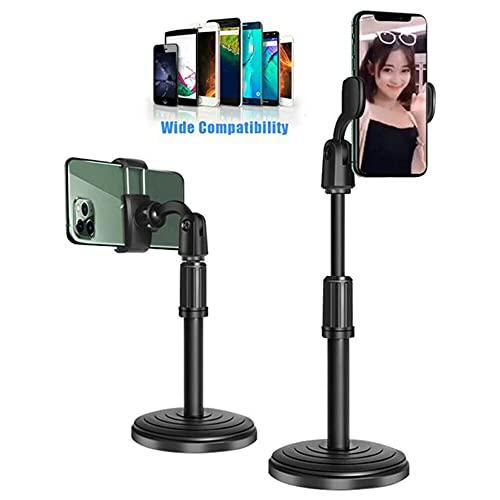 JINHU Escritorio Soporte para Teléfono Móvil 360 ° Ajustable Soporte Usado para La Estabilidad del Teléfono. Adecuado para Selfie Ver La Película (Negro)