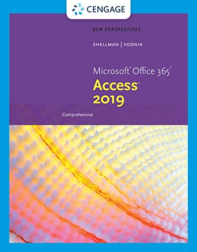 New Perspectives MicrosoftOffice 365 & Access2019 Comprehensive (MindTap Course List)