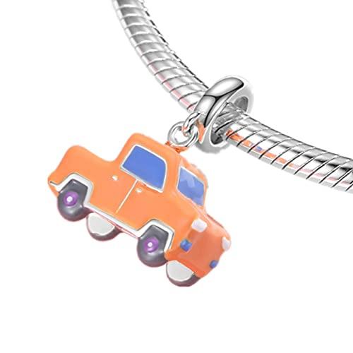 Cuentas De Plata Esterlina S925 Camión Cuentas De Bricolaje Adecuadas para Collar De Pandora Original Pulsera Pulsera Regalo De La Joyería