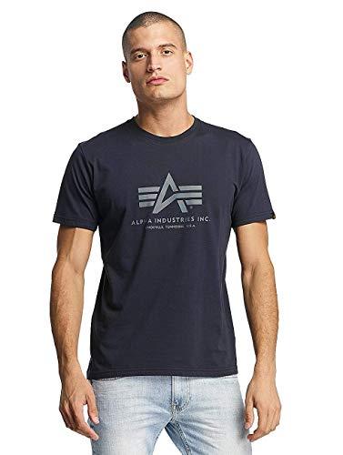 Alpha Industries Herren Basic T-Shirt M Rep. Blue
