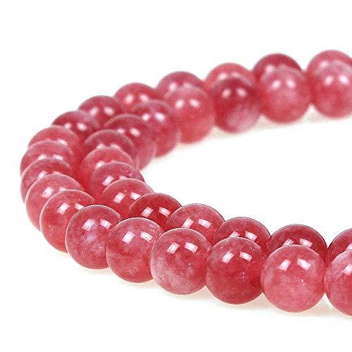 JARTC 8mm Rhodochrosite Gemstone Round Loose Beads for Jewelry Making