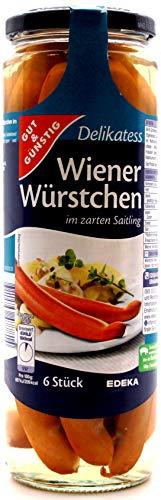 Gut und Günstig Delikatess Wiener-Würstchen, 6er Pack (6 x 680g)