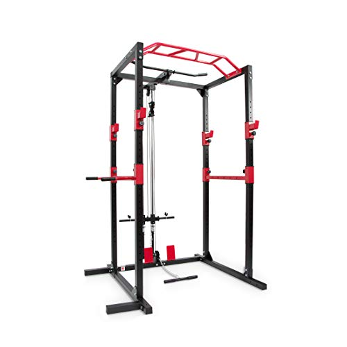 Ultrasport Unisex-Erwachsene Power Fitness Multifunktionales Rack für effektives Ganzkörpertraining, massive Stahlkonstruktion, Schwarz, Extra breit