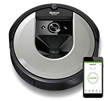 iRobot Roomba i7 (i7156) Saugroboter, 3-stufiges Reinigungssystem, intelligente Raumerfassung, Zeitplanreinigung, 2 Multibodenbürsten, WLAN App Staubsauger Roboter, für Tierhaare, Waschbarer Behälter©Amazon