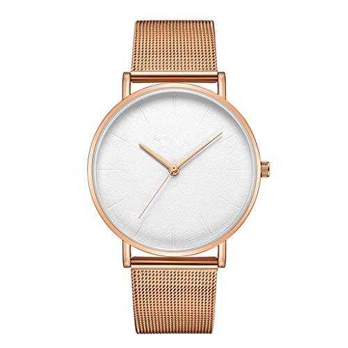 Neuer Trend Damen Uhren Analog Quarz Edelstahl Mesh Ultradünne Uhren für Frauen Mode Mesh Damenuhr Analoge Quarz-weibliche Armbanduhr Geschenk LEEDY