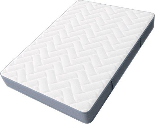 Hilding Sweden Pure Multicore Mittelfeste-/ Kaltschaummatratze, mit Sommer-und Winterseite für alle Schlaftypen (H2-H3), 200 x 140 x 22 cm, weiß und grau