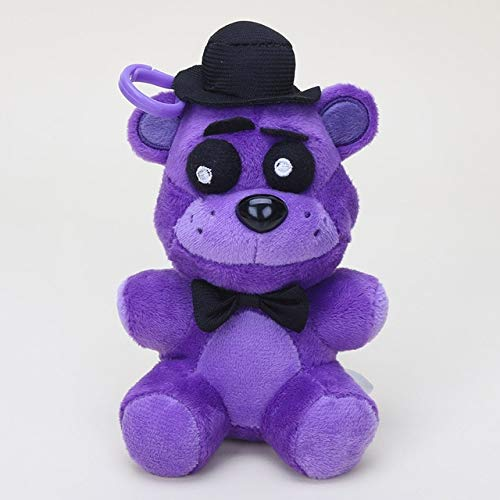 14cm Five Nights At Freddy poupées pendentif FNAF Freddy Bear Mangle Foxy Chica en Peluche Porte-clés en Peluche jouet en Peluche poupée Enfants cadeaux, Shadow Freddy14c