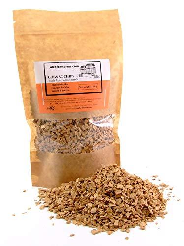 AlcoFermBrew - Virutas de madera de roble, 100 g, virutas de barril de coñac, para vinos, cerveza, whisky