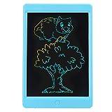 QIRG Tableta de Escritura LCD, borrado con un Clic sin retroiluminación Bloc de Notas electrónico de 3 V, para niños Que viajan(Blue)