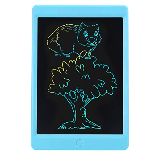 Fockety Lcd Writing Tablet, Without Backlight One‑Click Erasing Lcd Drawing Pad, Portable No Radiation Colorful Screen Adult for Kids Educational Toys Travelling(blue)
