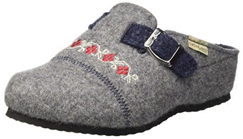 GRÜNLAND Damen CI2262 Pantoffeln, Grau (Grigio Grigio), 41 EU