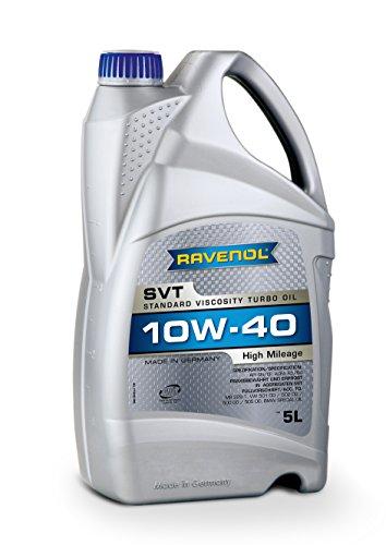 RAVENOL SVT SAE 10W-40 / 10W40 Teilsynthetisches Motoröl für hohe Laufleistung ab ca. 100.000 km (5 Liter)