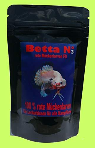 Zooweber Betta Nr 3 Kampffisch u. Labyrinther Fischfutter 100 ml rote Mückenlarven FD