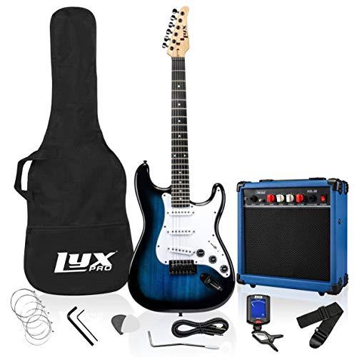 LyxPro Paquete de kit de guitarra eléctrica de 99 cm con amplificador...