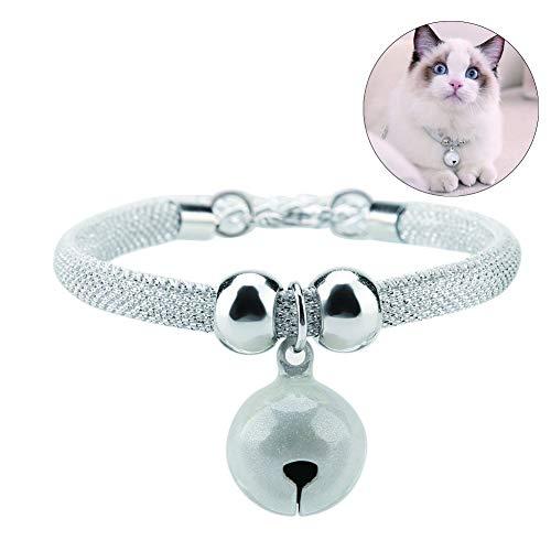 HEEPDD Mascotas de Estilo japonés Cuello de Gato Ajustable, Hecho a Mano Gatito Gatito Corbata Collar de Nylon Accesorios de Aseo Suministros para Mascotas con Cadena de extensión de Campana(B