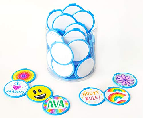 DIY Color Your OWN Bulk Bookmarks - Blue Clip Over The Page Bookmarks-75 Pack-Bulk Bookmarks for Kids,Boys & Girls. Perfect Student Incentives,Prizes,Classroom Rewards & Reading Awards!