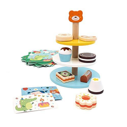 tellaLuna Kinder Simulation KüChe Kuchen Turm Holz Pretend Spielhaus Spielzeug Set Brettspiel Baby Kinder Geschenk