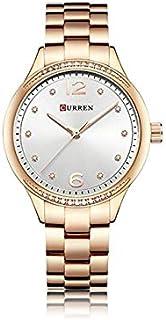 Curren 9003 Quartz Movement Round Dial Stainless Steel Strap Waterproof Women Wristwatch - Silver