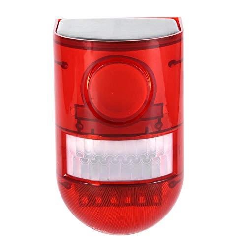 WJIN Luz de Alarma Solar 110db 6 LED Lámpara de Seguridad con Sensor de Movimiento a Prueba de Agua