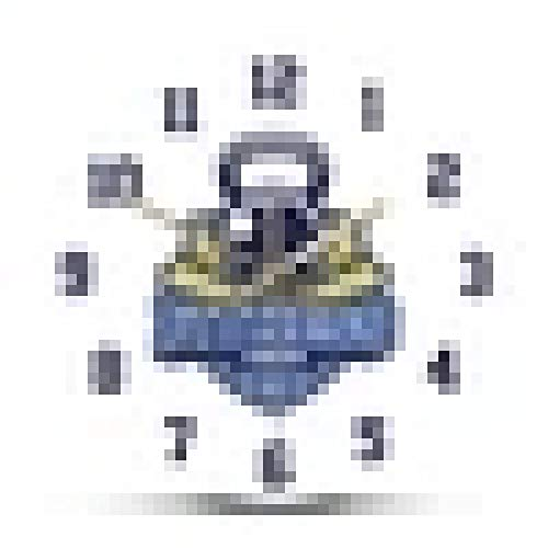 Reloj de Pared Gimnasio y Gimnasio Reloj de Pared silencioso Reloj Relojes Edificio Muscular Entrenamiento Deportivo Decoración del hogar Diseño Moderno Horologe