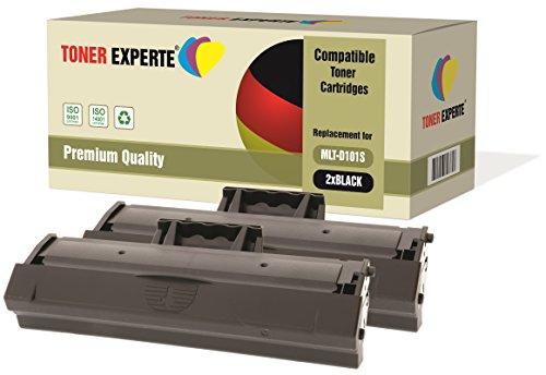 Kit 2 TONER EXPERTE® MLT-D101S Toner compatibili per Samsung ML-2160 ML-2165W ML-2168 ML-2168W SCX-3400 SCX-3400FW SCX-3405 SCX-3405FW SCX-3405W SCX-3405F SF-760P ML-2161 ML-2162 ML-2164W ML-2165