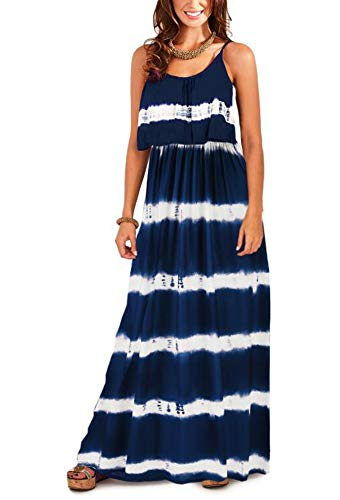 Women's Sling Swing Maxi Dress Summer Bohemian Printed Jurken