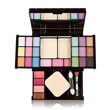 RY@ 27 Poudre + Fards à Paupières + Gloss + Miroir / Houppette / Pinceaux de Maquillage Sec / Humide Yeux / Visage / Lèvres / couGloss