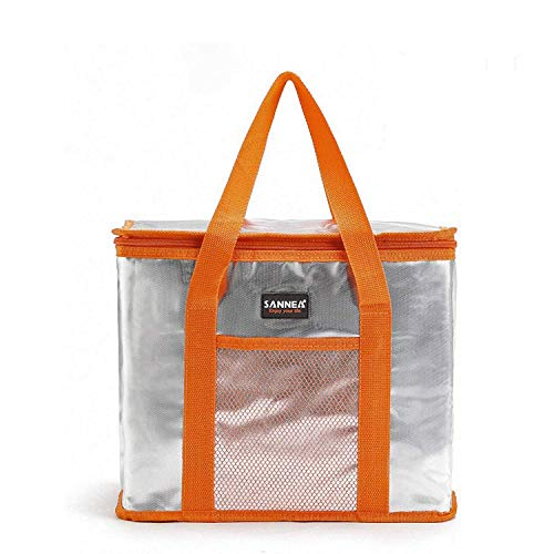 Reusable Insulated Tote Bag for Cold/Hot Food,Foldable,Durable,Washable,Sturdy Zipper,Stands Upright,Completely Reinforced Bottom and Handles,Shopping Bags for Groceries and Food Transport,Great Gift